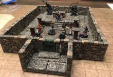 Dwarven Forge or other similar tiles are a great way in building the scene if you can afford them!