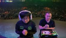 The first Evo grand finals for Street Fighter V was Fuudo vs Infiltration.
