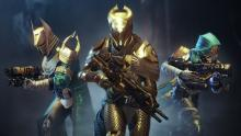 3 Guardians stand defiantly using Auto Rifles