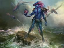 Legendary blue drake wizard