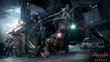 Batman using his combat moves