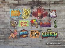 Some random Graffiti on display that are available in CSGO.
