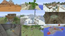 Many-different-Minecraft-biomes