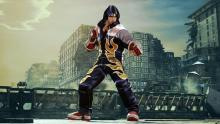 Jin, a character synonymous with the name Tekken, in a throwback costume referencing Tekken 4.
