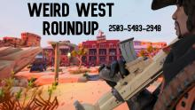 Player overlooks a Western-themed map perfect for multiplayer gun battles.