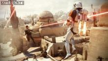 Two jet troopers take to the skies on Tatooine