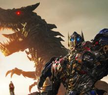 Behold the combined power of Optimus and Grimlock