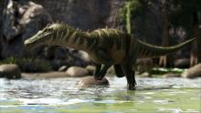 The Baryonyx can stun enemies under water with a tail spin attack