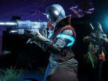 A Moon Guardian using an Auto Rifle stands defiantly