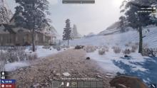 Old highway running through the snow biome.