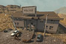 The police got overrun in the apocalypse, but you can still find them wandering around.