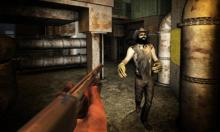 Get some pieces of leather armor by killing and looting zombies!