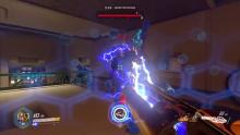 Winston's canon can damage multiple enemies at once without aiming directly at them!