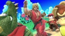 Ken beats up an alligator