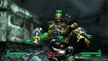 Stand your ground! Your V.A.T.S will help you in dealing with this ugly, muscular, armored, scary-looking brute.