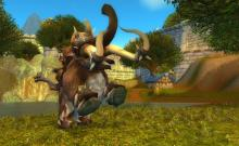 Get a Tauren and ride around showing off your massive Mammoth!