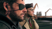 Big Boss and Kaz glare into the sunset together