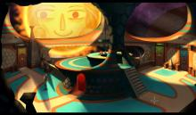 The Hub map in Broken Age, Shay is the boy character in the game.