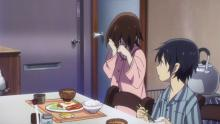 Kayo get's emotional over all the kind gestures Satoru and his mother has done for her.
