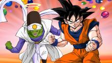 Goku and Pikkon ready to fight