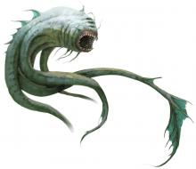 Aboleths are ancient creatures of vast intelligence. They occupy dark, murky waters of ancient magic.