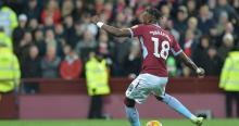 Tammy Abraham playing for Aston Villa on loan from Chelsea