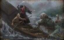 Don't always assume in Accursed! This undead is helping their boat from sinking!