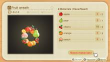 This wreath requires you to have all of the different types of fruit available in Animal Crossing: New Horizons.
