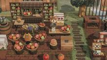 Some players have created very detailed fruit stands on their islands.