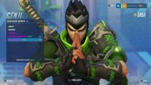 Genji meditating with his sparrow skin