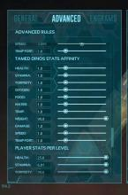This menu allows players to change the amount of a stat that is gained during a level up from outside of the actual game or server.