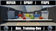 Aim reflex training map