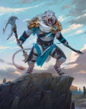 Ajani was once a leonin cat warrior