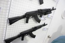The AK-104 is the carbine version of the AK-103.