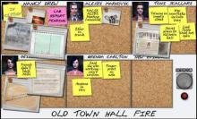 Attempt to clear your name and find the true culprit as you are arrested for arson in Alibi in Ashes.