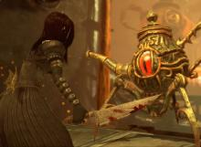 Alice battling the Teapot in Madness Returns