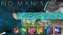 Here's an image that depicts all the weapons available for you ship in No Man's Sky.