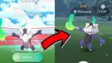 When defeating ghost/fire-type Alolan Marowak in a raid battle, you might be rewarded with a chance to catch its shiny form!