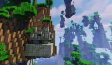 Check out the floating dungeon in this amplified world!