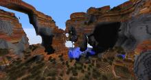 Look at this crazy mesa biome with dramatic cliffs and drop-offs.
