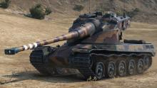 Powerful and colorful AMX 50 B heavy tank wins out of all the tier 10s.