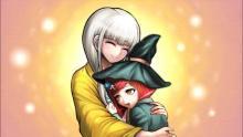 Angie using her brainwashing hugs.