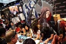 Sword Art Online staff autographs posters for attendees