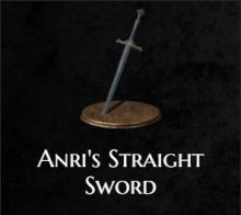 Anri's Straight Sword from Dark Souls 3