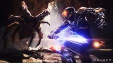 Anthem's story and gameplay revolve around defeating the hostile alien creatures of its open world.