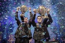 Aqua and Nyhrox stun the world, taking home the 1st place trophy in the Fortnite Duos World Cup
