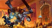 A totemic guardian defending the castles treasure room