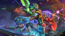 Arcade Sona and friends.