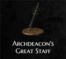 The archdeacon's great staff from Dark Souls 3