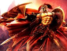 Although Ares was the god of war and violence he was kind of a coward. He would flee battle at the smallest of wounds